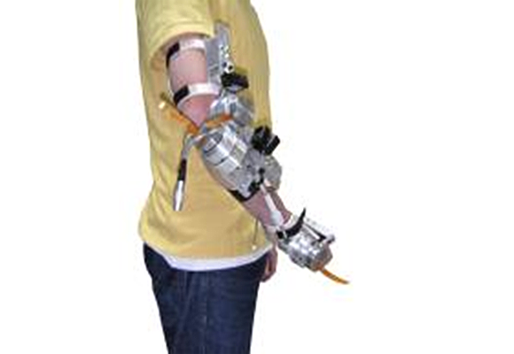 Upper limb exoskeleton for tremor suppresion